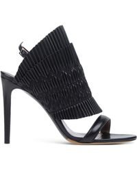Tabitha Simmons | Pleated Leather Sandals | Lyst