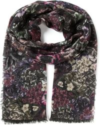 Valentino Floral Print Scarf - Lyst