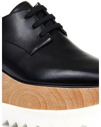 Stella McCartney Elyse Laceup Platform Shoes - Lyst