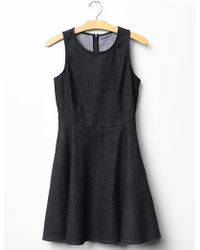 Gap Dot Denim Dress - Lyst