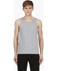 Calvin Klein Ssense Exclusive Heather Grey Perforated Tank Top - Lyst