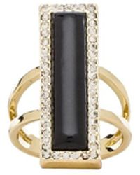 House Of Harlow Illuminating Rectangle Ring - Lyst