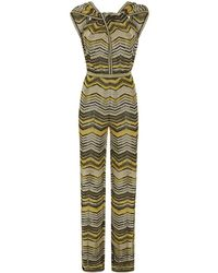 M Missoni Chevron Knit Jumpsuit - Lyst