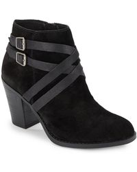Lucky Brand Elyannah Suede Ankle Boots - Lyst