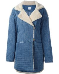 Steve J & Yoni P - Denim And Shearling Coat - Lyst