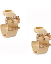 Rachel Zoe Belt Hoop Earrings - Lyst