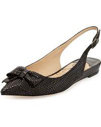 J. Reneé Madryn Snakeprint Leather Bow Slingback - Lyst