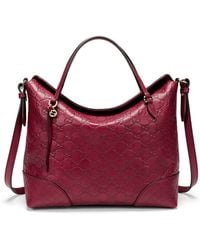 Gucci Bree Ssima Leather Top Handle Bag - Lyst