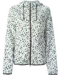 Giamba Printed Hooded Jacket gray - Lyst