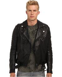 Pierre Balmain Leather Biker Jacket - Lyst
