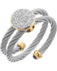Charriol Wraparound Cable Diamond Ring silver - Lyst