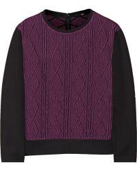Tibi Cable-knit Jacquard Sweater - Lyst