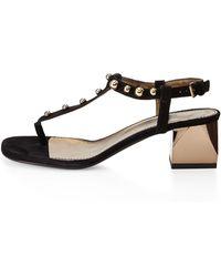 Lanvin Studded T-Strap Sandal - Lyst