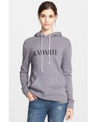 Rodarte Hooded Knit Sweater gray - Lyst