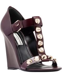 Balenciaga Classic Screw Wedge Sandals - Lyst