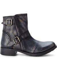 Steve Madden Black Acksiz Buckle Boots - Lyst