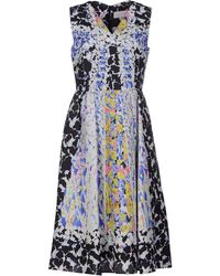 Peter Pilotto Knee-Length Dress white - Lyst