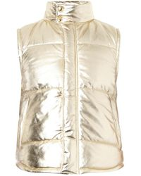 Moschino Metallic Leather Gilet - Lyst