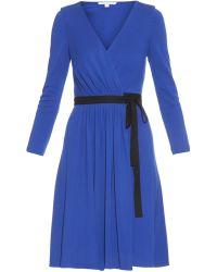 Diane von Furstenberg - Dvf Seduction Wool Wrap Dress - Lyst