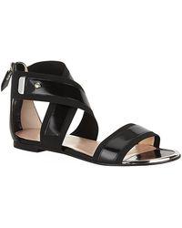 Stuart Weitzman Expo Leather Sandal - Lyst