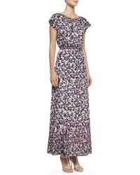 Nanette Lepore Modern Romance Floralprint Long Dress - Lyst