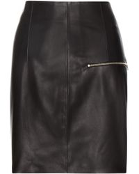 Acne Studios Lisle Leather Skirt - Lyst