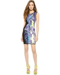 Hervé Léger Marbled Sequin Elizabeth Dress - Blue Iris Combo - Lyst