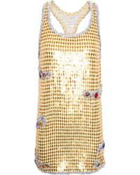 Ashish Sequined Tank Dress - Lyst