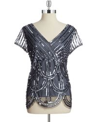 Marina Sequined Top - Lyst