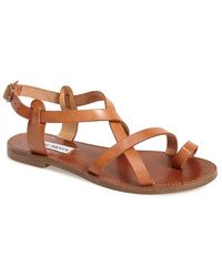 Steve Madden 'Agathist' Leather Ankle Strap Sandal - Lyst