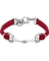 Gucci Horsebit Leather Bracelet - For Women red - Lyst