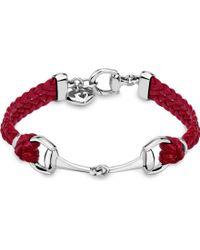 Gucci Horsebit Leather Bracelet - Lyst