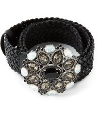 Roberto Cavalli Embellished Belt - Lyst