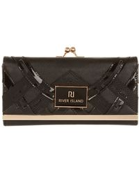 River Island Black Cut Out Clip Top Purse - Lyst
