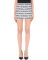Versus  Logo-Print Jersey Skirt - For Women - Lyst