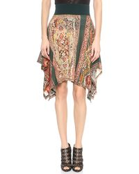 Jean Paul Gaultier Printed Skirt  Verde - Lyst