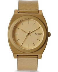 Nixon The Time Teller Metallic Strap Watch 40mm - Lyst