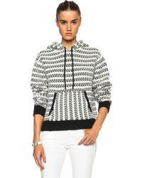 Proenza Schouler Hooded Cotton-Blend Pullover - Lyst