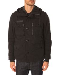 Diesel W-Tapi Black Parka With Removable Lining black - Lyst
