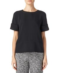 Maiyet Wide Cuff Crew Neck Top - Lyst
