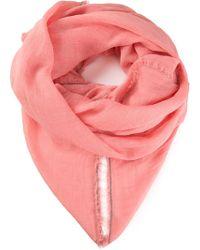 Brunello Cucinelli Pink Frayed Scarf - Lyst