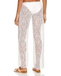 Becca - Amore Lace Swim Cover Up Trousers - Lyst