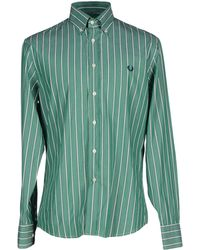 Fred Perry | green Shirt | Lyst