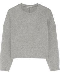 T By Alexander Wang Cotton-Blend Neoprene Sweatshirt - Lyst