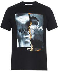 Givenchy Cuban-Fit Amerika-Print T-Shirt - Lyst
