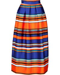 Alberta Ferretti Striped Skirt - Lyst