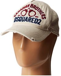 DSquared2 Canadian Brothers Baseball Cap - Lyst