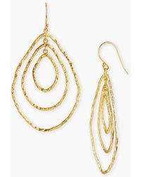 Argento Vivo Drop Earrings gold - Lyst