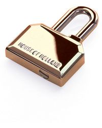 House of Holland - Aw11 Gold Hoh Padlock Keyring - Lyst