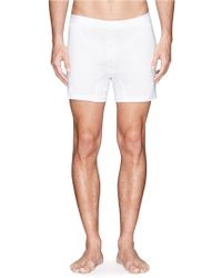 Sunspel White Twobutton Boxers - Lyst
